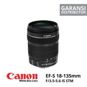 jual Canon EF-S 18-135mm f/3.5-5.6 IS STM White Box